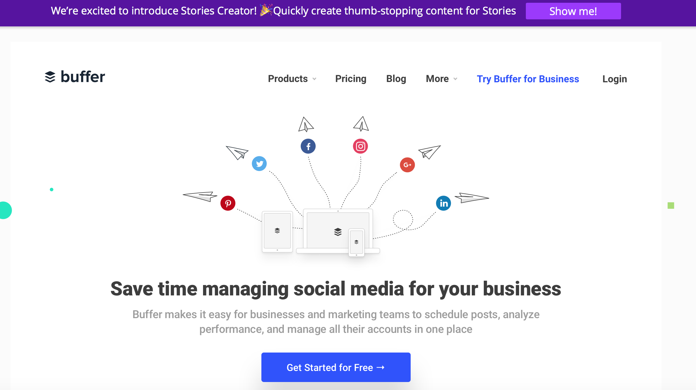 Buffer Social Media Scheduling Tool
